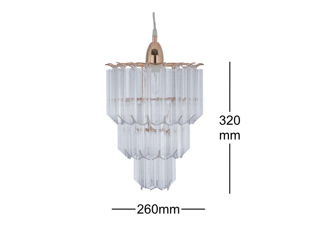 法國金透明壓克立吊燈-BNL00067 6