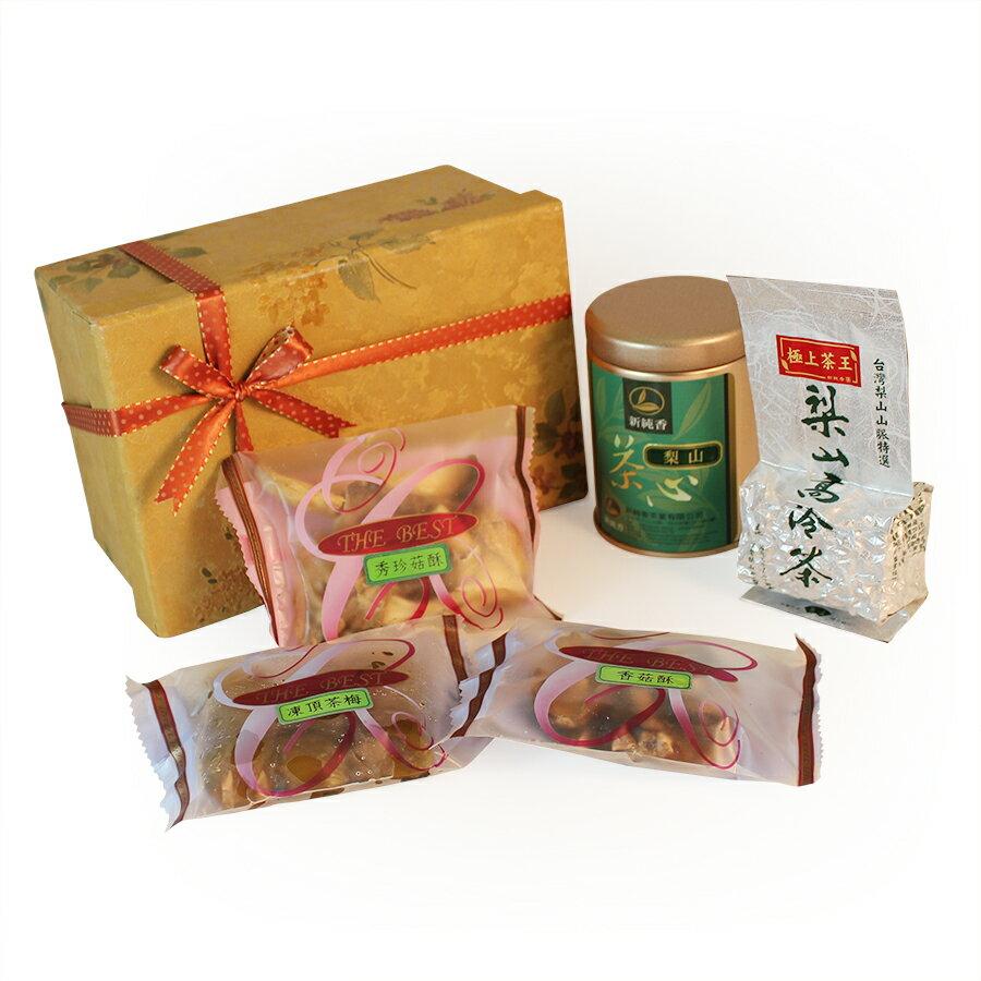 台灣茶搭配茶食禮盒