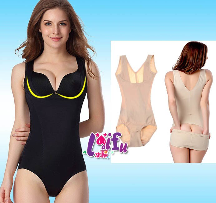 來福塑身衣,F32塑身衣後脫素面薄款無痕產後收腹提臀連身美體衣塑身衣,售價450元