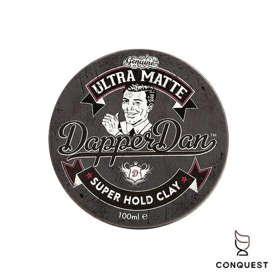 【 CONQUEST 】英國 Dapper Dan Ultra Matte Clay 霧面啞光髮泥 髮蠟 時髦丹 灰罐