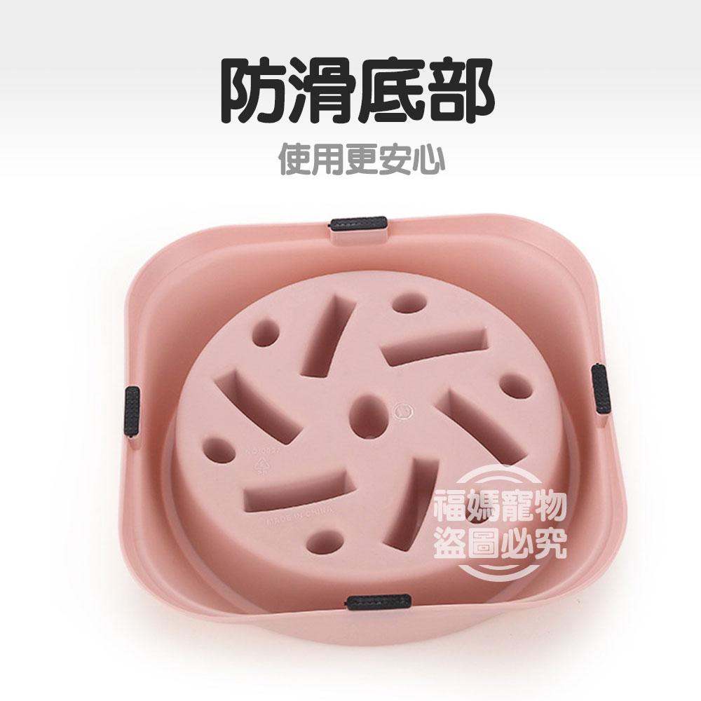 狗狗 慢食碗 飼料碗 防噎碗 寵物碗 寵物餐具 圓角方形 防滑 狗【A0007】 碗口直徑約18cm