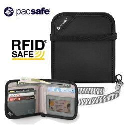 【Pacsafe 澳洲】RFIDsafe V100 防盜皮夾 旅遊防盜錢包 (10556100)