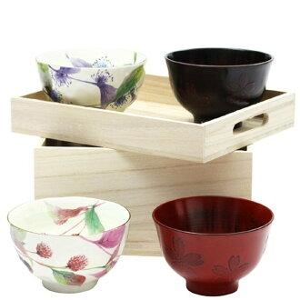 【日本和藍】花つづり飯碗湯碗組 (美濃燒) / 日式 無毒 瓷器 生日 結婚 送禮 工藝 收藏品 24期免運費