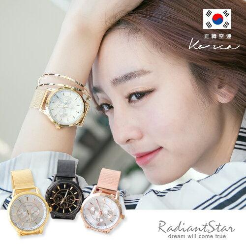 正韓LAVENDA瑰麗時光假三眼米蘭帶手錶【WLA250】璀璨之星☆