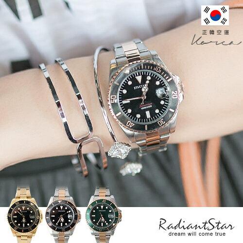 正韓STACCATO奧克蘭都會時尚日期顯示金屬鍊帶錶【WST351】璀璨之星☆