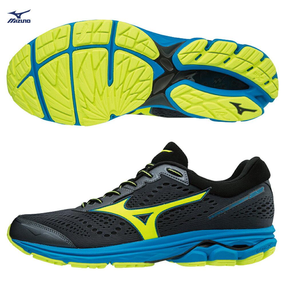 WAVE RIDER 22 一般型 男款慢跑鞋 J1GC183145(丈青X螢光綠)【美津濃MIZUNO】 - 限時優惠好康折扣