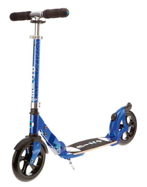 【淘氣寶寶】瑞士 Micro Flex Blue - 藍精靈悠遊滑板車 / 世界第一大品牌滑板車