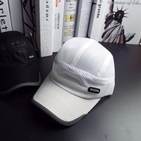 PS Mall 鴨舌帽棒球帽網眼透氣運動帽 【G1010】 0