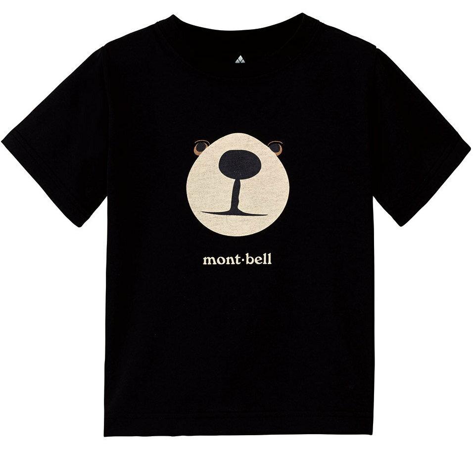 Mont-Bell 兒童排汗短T/幼童排汗衣 Wickron 1114258 1114257 BK 熊臉 黑