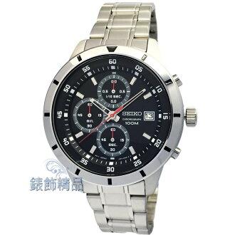 【錶飾精品】SEIKO手錶 精工錶 SKS561P1 黑面 日期 三眼計時 鋼帶男表 全新原廠正品 生日情人禮物