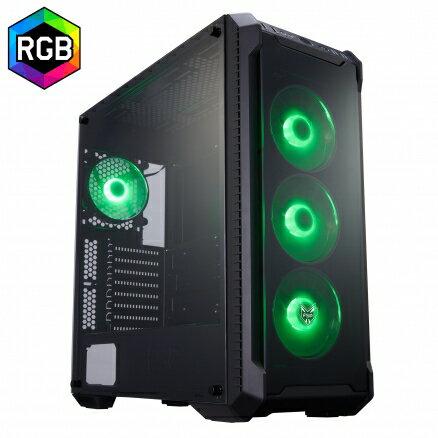 FSP全漢光戰警【CMT520】RGB遊戲機殼(玻璃透側)電腦機殼PC機殼【迪特軍】