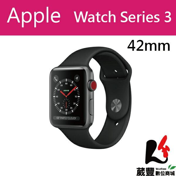 AppleWatchSeries342mmLTE太空灰色鋁金屬錶殼搭配黑色錶帶【葳豐數位商城】