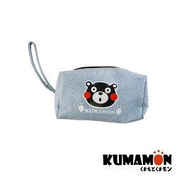 【KUMAMON 酷MA萌】NO.A150熊本熊化妝收納包 藍 (化妝 零錢 防水 收納 筆袋)