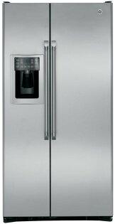 得意專業家電音響:GE美國奇異GE奇異家電702L薄型對開門冰箱CZS25TSSS另售UA75MU6100UA75MU7000