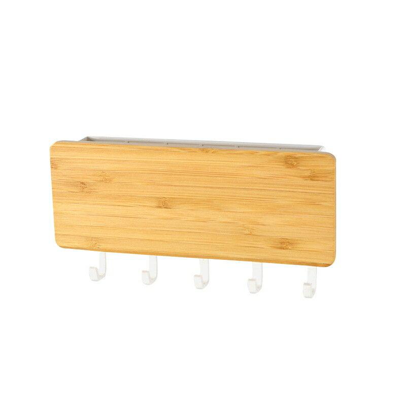 日式和風收納盒鑰匙牆壁掛鉤實木收納掛鉤木質掛物鉤玄關雜物掛架 2