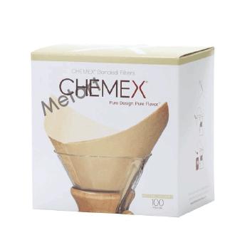 【Metart形而上】Chemex  原廠專用濾紙-方型已預褶款 無漂白/6人份