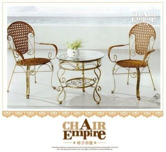 《Chair Empire》一桌二椅 椅子帝國 南洋風 /戶外休閒桌椅/休閒椅/鍛造椅353+535 陽台桌椅組