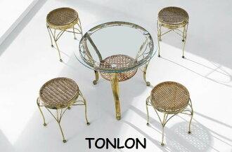 《Chair Empire》一桌四椅南洋風、歐洲風 /簡餐組/方便行桌椅 小姐凳椅+504 陽台桌椅組