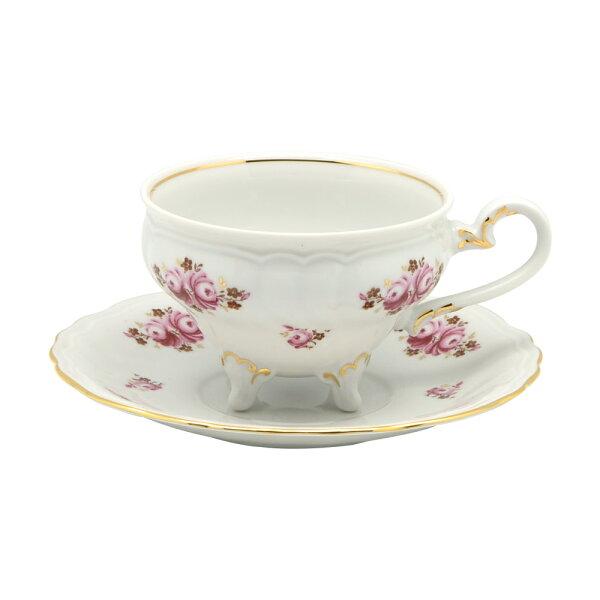 德國Weimar凱瑟琳娜城堡玫瑰系列-210ML咖啡花茶杯盤組