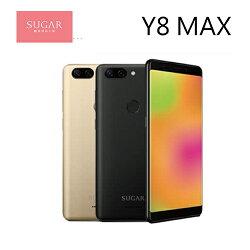 [滿3000得10%點數]糖果 SUGAR Y8 MAX 2G/16G 5.45吋雙卡 美肌自拍智慧手機 2G/16G 三鏡頭 全螢幕 -金/黑