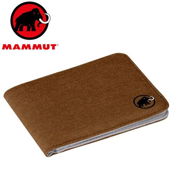 Mammut長毛象拉鍊錢包皮夾短夾財布Flapwalletmelange2520-007107396木材褐