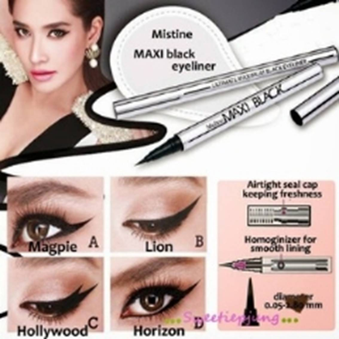 <br/><br/> 泰國 MISTINE 眼線液 -MAXI BLACK 全效眼線液筆 (黑色) 銀管【樂活生活館】<br/><br/>