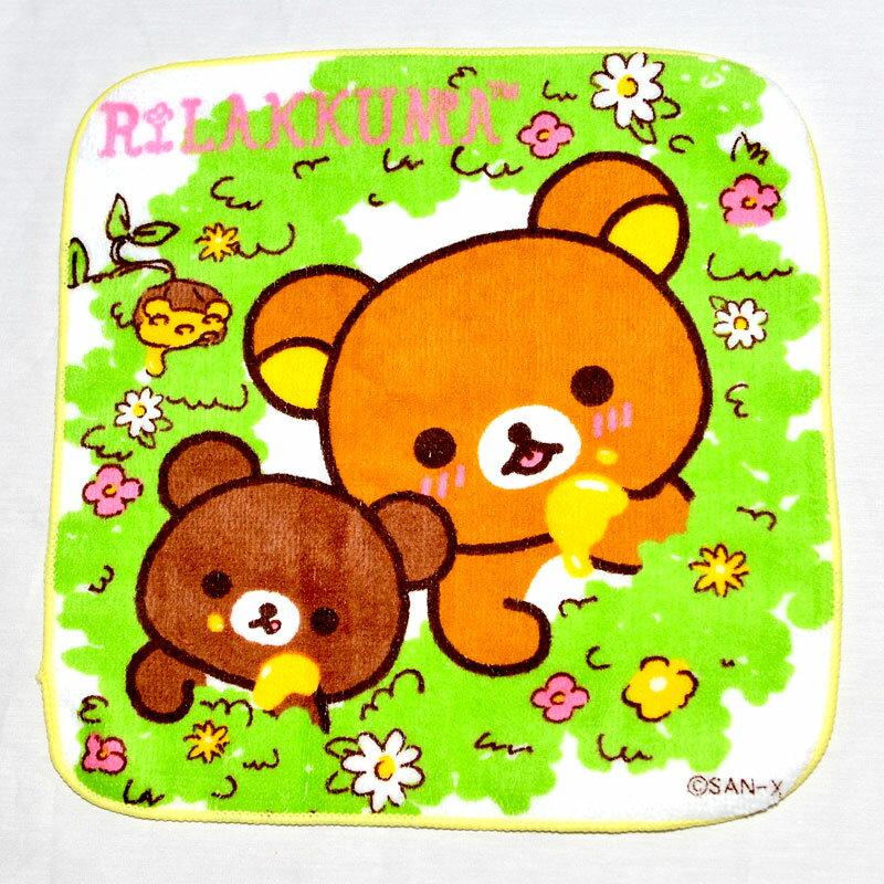 拉拉熊 小方巾 毛巾 手帕 日本正版品 san-x