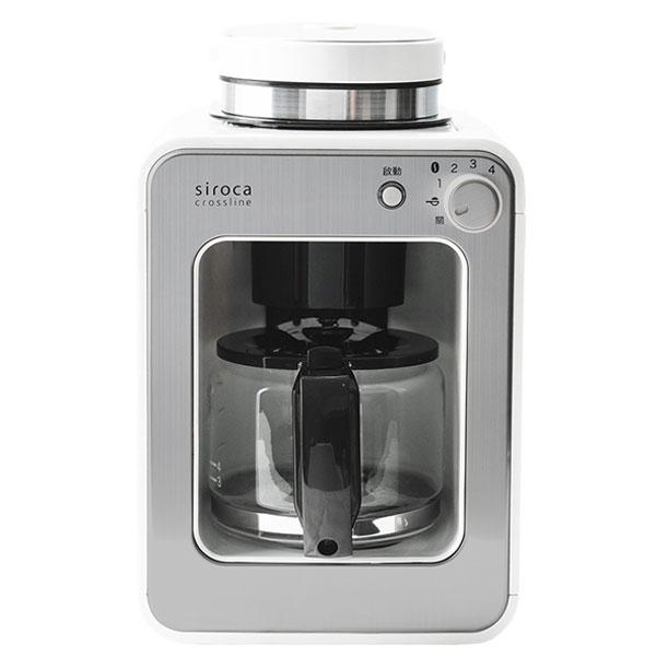 【贈藝妓咖啡豆】siroca crossline 自動 研磨 悶蒸 咖啡機 完美白 SC-A1210 日本熱銷機種 公司貨 1