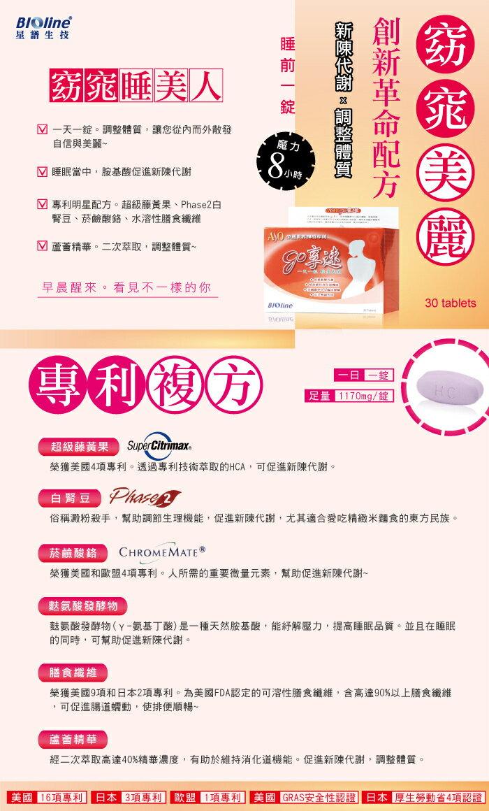 『121婦嬰用品館』BIOline星譜生技 GO享速(30錠) 1