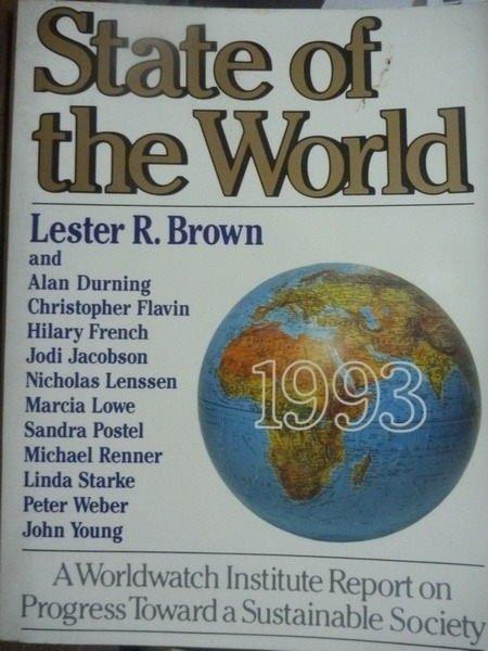 【書寶二手書T9/原文書_QMF】State of the World 1993_Brown,etc