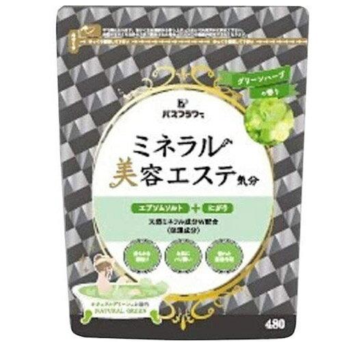 日本 礦物浴鹽香氛入浴劑 泡澡.泡湯 480g~草本清香✿