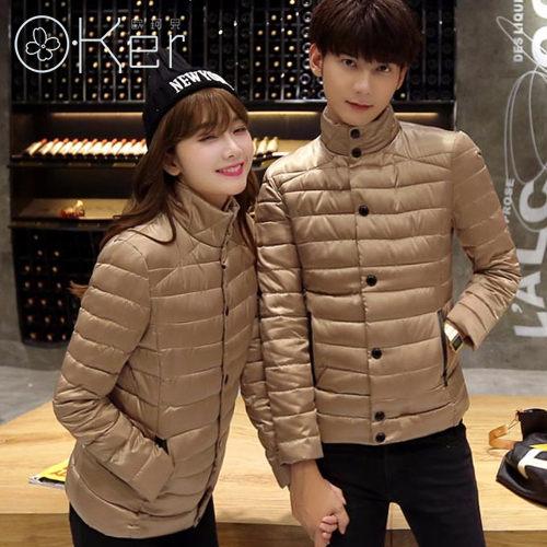 秋冬必備輕羽絨素面立領溫暖防風外套情侶外套 約會穿搭-4色 O-Ker LL18188