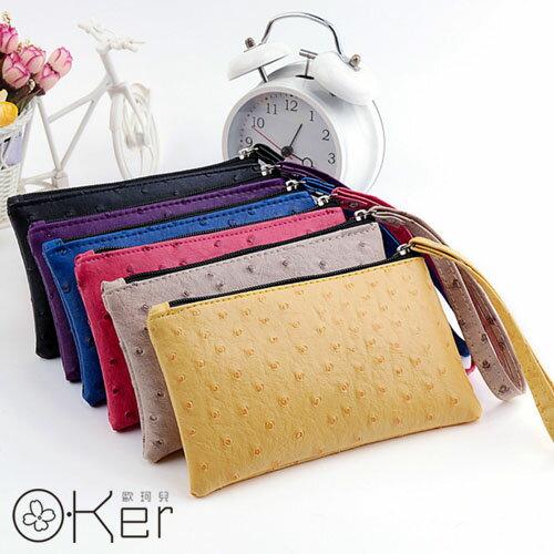 簡約百搭動物紋手掛帶多功能手機包 皮夾錢包 O-Ker KAQ216