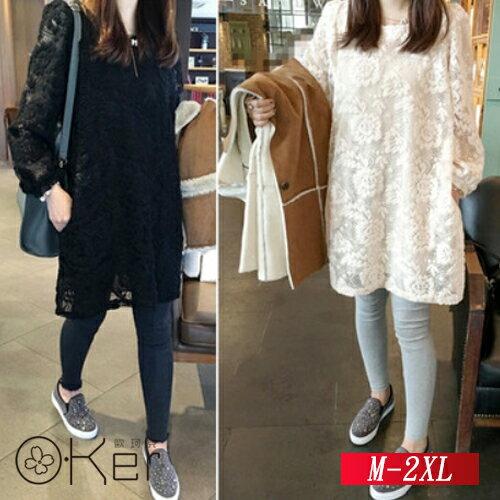 寬鬆蕾絲連衣裙M-2XLO-Ker歐珂兒159049-C