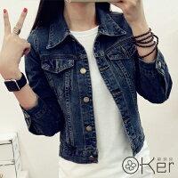 牛仔/丹寧服飾到新款經典百搭修身雙口袋牛仔外套 O-Ker LL80151