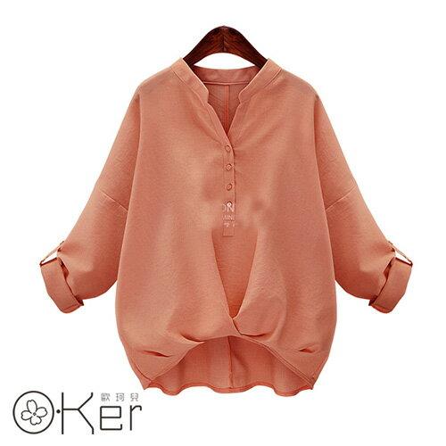 歐版純色造型襯衫(4色)
