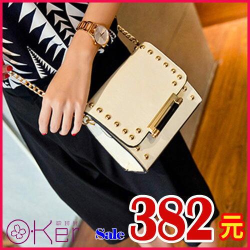 韓版時尚女包鉚釘鏈條斜背包HH812 新貨冏臉包即將到貨