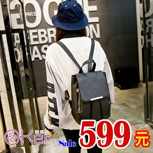 韓版學院風十字紋休閒後背包HH077
