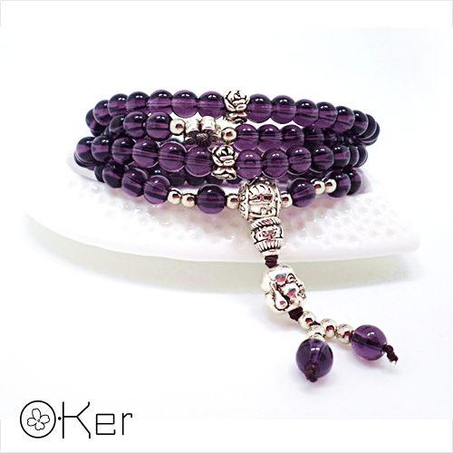 天然紫水晶瑪瑙多層手鍊 O~Ker S384