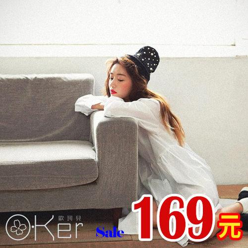 潮流stylenanda珍珠點綴針織毛帽 O~Ker M68