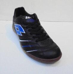 [陽光樂活](特價出清) LOTTO 成人室內平底鞋 PROXIMA ID 黑/藍 LTR5528