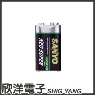 ※ 欣洋電子 ※ SANYO 三洋 9V 電池 (1入) / 高性能碳鋅9V電池