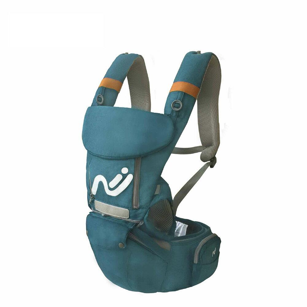 Nipper  多功能腰凳揹巾-湖藍綠