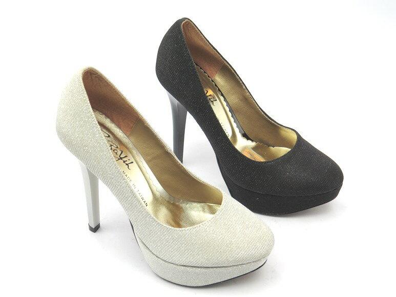 *高跟鞋* 韓版簡約厚底高跟包鞋23-9980(黑蔥/銀蔥)☆【彩虹屋】☆現+預