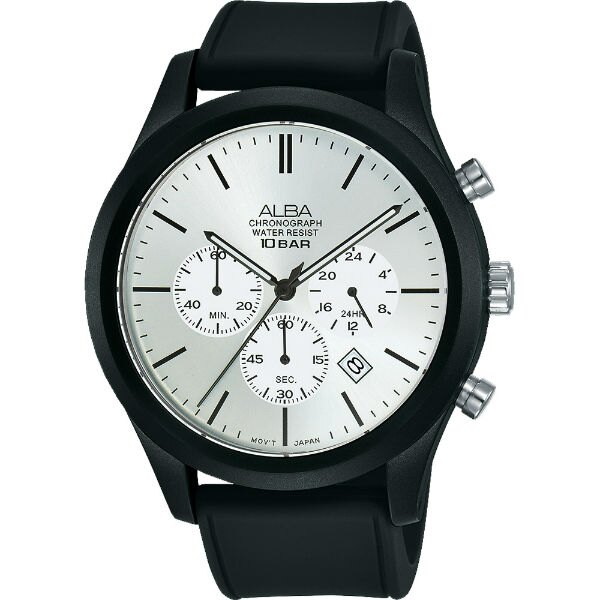 ALBA 雅柏 VD53-X347Z(AT3G23X1) 街頭時尚型男腕錶/ 銀*黑 44mm