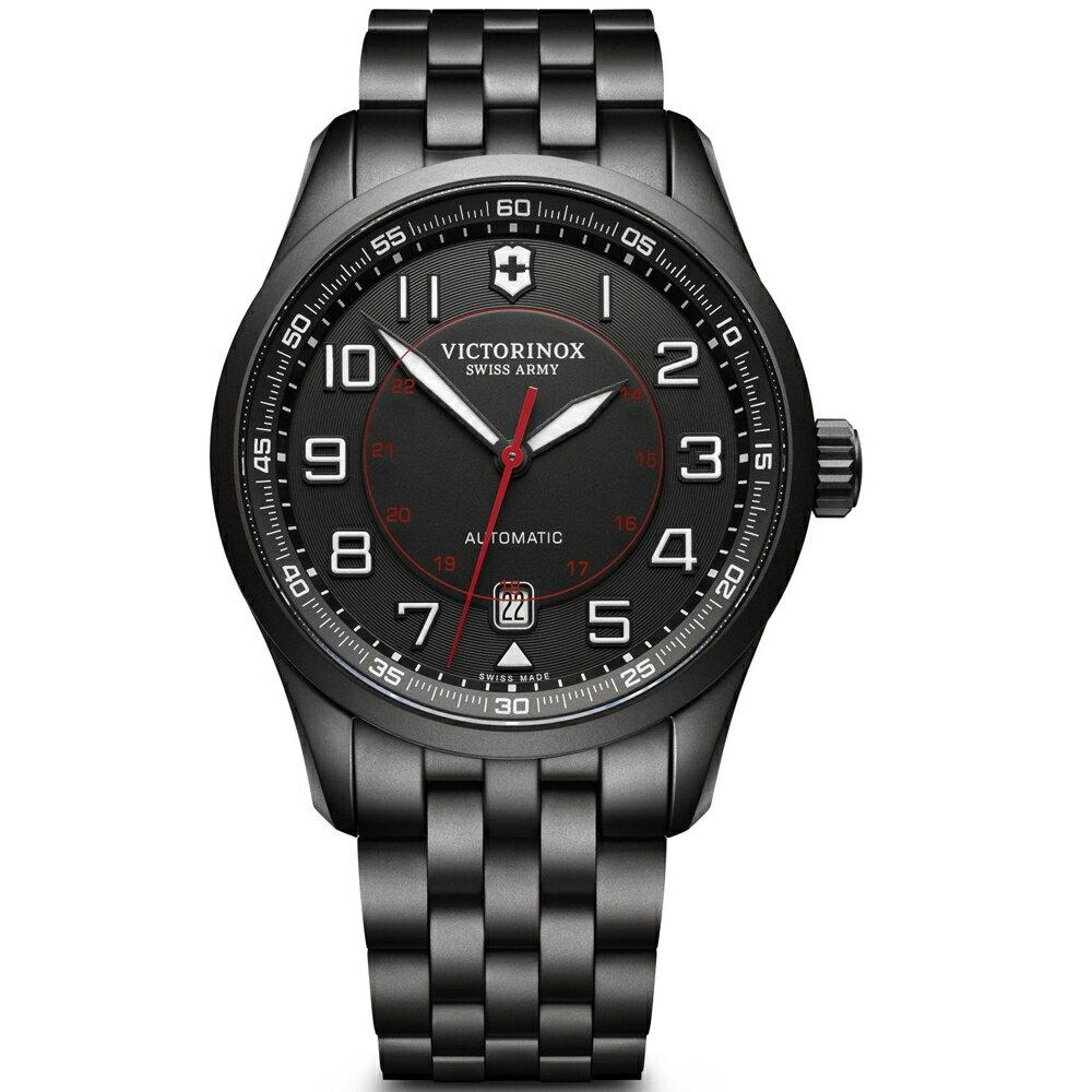 VICTORINOX SWISS ARMY瑞士維氏Airboss Black Edition機械腕錶   VISA-241740