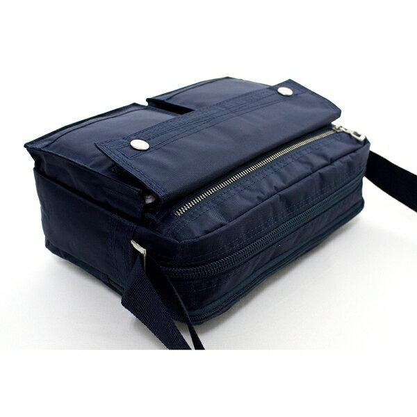 日系雙口袋雙層側背包 (休閒 斜背包 porter風 NEW STAR BL49 6