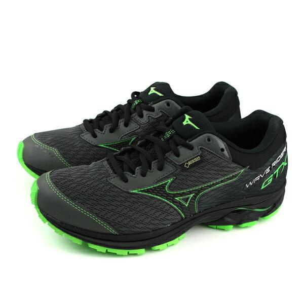 美津濃 Mizuno WAVE RIDER GTX Gore-tex 慢跑鞋 黑色 男鞋 J1GC187905 no058