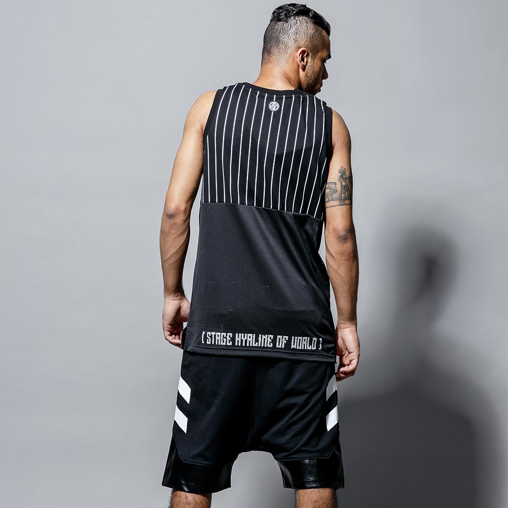STAGE 2TONE BASKETBALL JERSEY 黑色/白色 兩色 3
