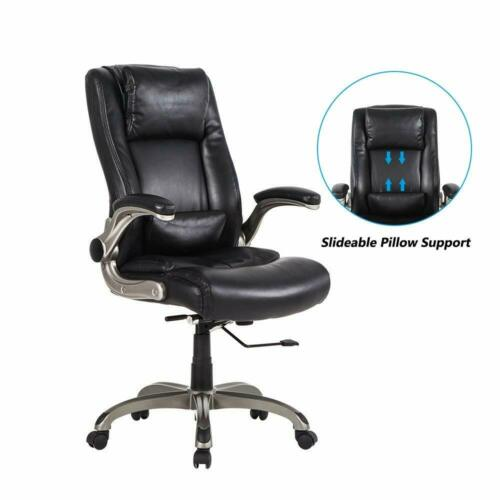 Factory Direct Back Executive Office Chair With Flip Up Arms